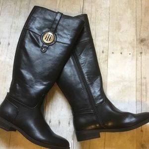Tommy Hilfiger Riding Boots New Black Twivane